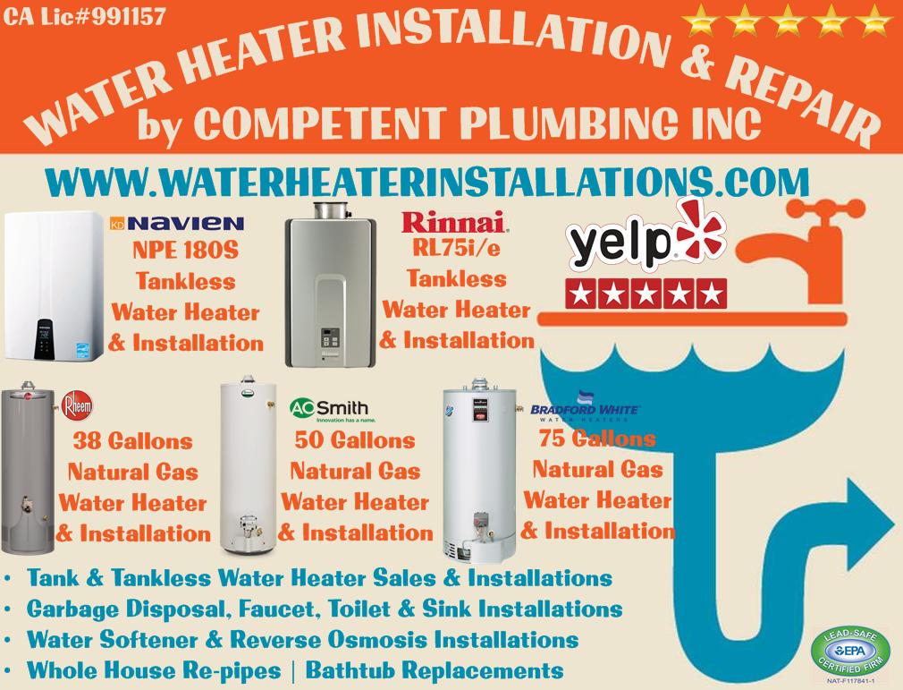 Water Heater Installation Replacement Amp Repair In Orange